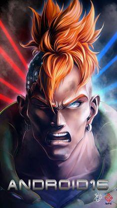 Android 16 Dragon Ball Z Fanarts Anime, Manga Anime, Goku Manga, Dragon Ball Z, Akira, Realistic Cartoons, Susanoo, Fan Art, Anime Comics