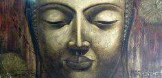 Stort og vakkert Buddha bilde malt på lerret. Bildet måler hele 200x100 cm!Mål:Bredde 200 cmHøyde 100 cmVekt:Ca 8 kgVarenummer:670451