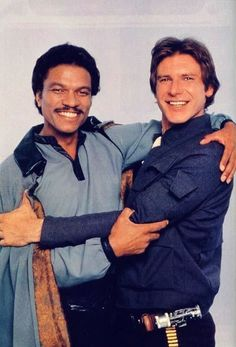 Best friends? Lando Calrissian and Han Solo from Star Wars The Empire Strikes Back