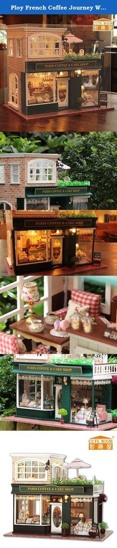 Ploy French Coffee Journey Wooden Kit Dollhouse Miniature DIY Dolls Handmade House with Music & LED Light +with Glass Dust-proof Cover +for Girlfriend &children Birthday/Christmas Gift A028B. DIY house is the miniature of real house, All the materials are almost the same as real house so cute and beautiful ,Love Coffee It is Travel Time;1:24 scale, Finished Product Size:33*23*29??m??Also one of the essential decoration in your home, The house is like a small version of the real house, and...