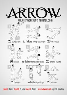 Arrow Workout | neilarey.com | #fitness #bodyweight