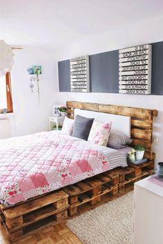 Ein Palettenbett ist das funktionellste Stück unter den modernen Wohnmöbel und kann am häufigsten in unseren Schlafzimmern gesehen werden.