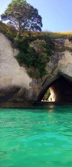 New Zealand Travel Inspiration - Cathedral Cove near Hahei, Coromandel, North Island, New Zealand