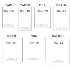 Matress Sizes King Twin Williston Mattress Soka Co