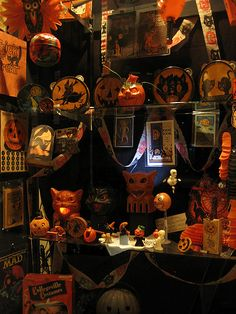 My uncle's vintage halloween collection by kate*, via Flickr
