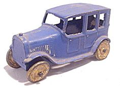 1920's Tootsietoy Model A Ford Sedan In Blue