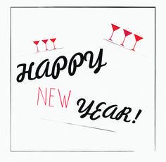 Happy new year for fancy people.   http://www.eventure.com  #fancy #drinks #happynewyear #eventure #design #cards #inky #red