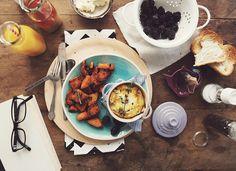 Sweet potatoes & Baked Egg