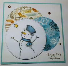 Made by Maroeska: Let it snow - My Favorite Things clear stamp - card - colored with Copics