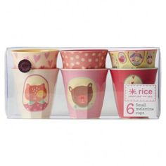Kids Pink Happy Camper Cups (set of 6)