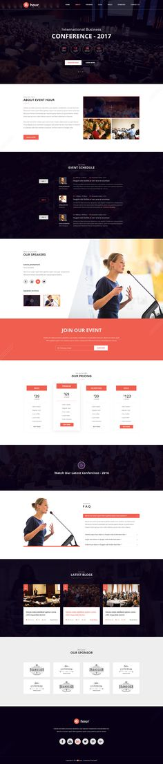 Event Hour - Event and Conference PSD Template by ThemeeBiT | ThemeForest