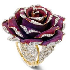 lydia courteille diamond rose ring ht