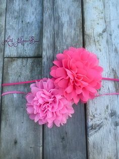 Combo listing for 2 pink chiffon by LittleSparrowBows on Etsy #littlesparrowbows