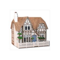 Glencroft Dollhouse ❤ liked on Polyvore featuring houses, dollhouse, doll house, filler and toys