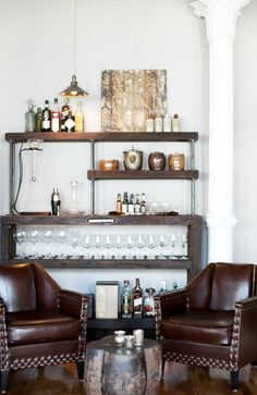 Chic Cozy Home Bar // RUE Mag Fall 2012