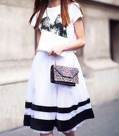 Street Style: Play match-maker with coordinating monochrome on top and bottom.