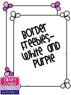 Freebie Border and Frame - Cutesy Clickables by Collaboration Cuties - TeachersPayTeachers.com