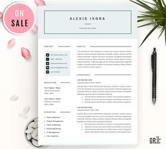 Resume / CV Template by GResume on @creativemarket