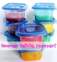 table for seven {out of the kitchen}: Homemade Bathtub Fingerpaint