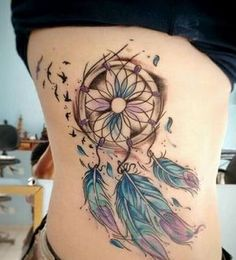50 Dream Catcher Tattoos für Frauen - Tattoo vorlagen - Tattoo Designs for Women Best Tattoos For Women, Tattoo Designs For Women, Trendy Tattoos, Unique Tattoos, Beautiful Tattoos, Tattoos For Guys, Random Tattoos, Chicano Tattoos, Body Art Tattoos