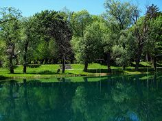 Una river in Bihac, Bosnia, all the pictures with water in Bihac are right in town not out in the woods, the water is an unreal blue green