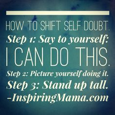 When you step out of your comfort zone, fear and self doubt can creep up. Here is something that has been helping me! #inspiredby #inspiringmama