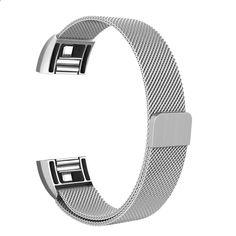 Correa de reloj Issmolog para Bandas Charge2 grandes y pequeñas Pulseras de reemplazo de metal Milanese Loop con fuerte cierre magnético Fitbit Flex, Watch, Bands, Bracelet