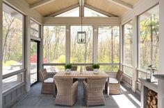 beautiful simple glass enclosed patio design