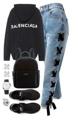 """Untitled #4498"" by magsmccray ❤ liked on Polyvore featuring Sans Souci, Balenciaga, Calvin Klein, Witchery, Links of London and Y-3"