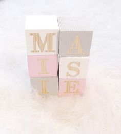 Our natural pine name blocks are the perfect addition to any room and make a fantastic gift for new babies, older kids and even the young at heart! They are very modern & trendy and come in a range of colours so guaranteed to suit any space. Our blocks comes in a choice of colours as shown in the 5th photo. Please leave the name and colour/colours you would like in the notes to seller box as you checkout. If no colour is stated youll receive white blocks. ♥ YOUR BLOCKS ♥ • Measure 4.5 cm x…