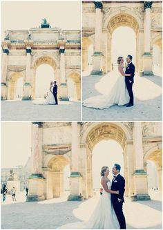 romantic #wedding #Paris #Louvre