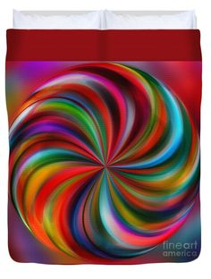 """Swirling Color by Kaye Menner Queen (88"""" x 88"""") Duvet Cover"""