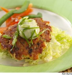 Wasabi Salmon Burgers! Bring out the flavors of salmon with a Japanese ...