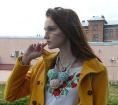 Unique crochet necklace Colorful necklaces for women Bib necklace | KaOliaCreativeStudio -  on ArtFire