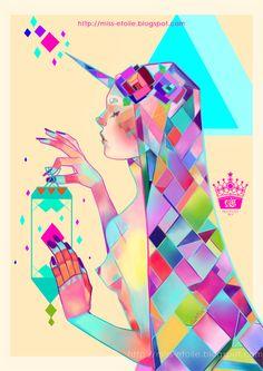 MISS ÉTOILE: Cubismo y poster