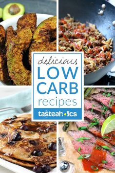 Low Carb Recipes - Hundreds of low carb recipes that will make your mouth water! Each one of our keto recipes is healthy and extremely delicious. Go low carb and never turn back!   Tasteaholics.com via @tasteaholics