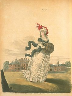 Gallery of fashion April 1796 - Morning dress