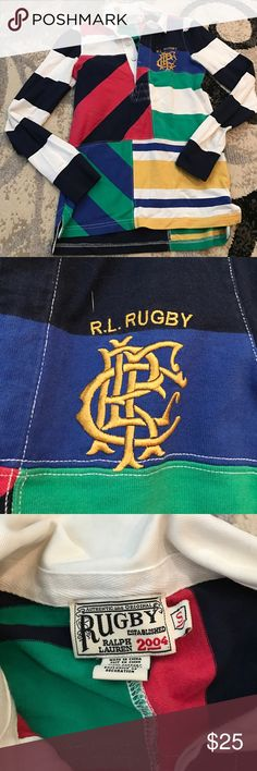 Ralph Lauren 2004 rugby This is in excellent condition ! It is a very girly rugby with pleated shoulders. Make an offer  Ralph Lauren Tops Tees - Long Sleeve