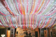 crepe paper canopy