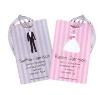 Honeymoon surprise! His and Hers Just Married Personalised Luggage Tags