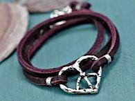 boho wrapped peace / love bracelet