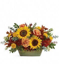 Teleflora's Sunflower Farm Centerpiece in Pompano Beach FL, Grace Flowers, Inc.