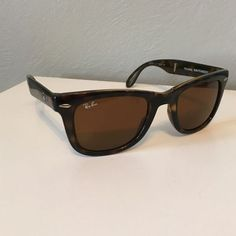 27ef2141e07  24.99--- Ray Ban RB4105 Folding Wayfarer Sunglasses Light Havana Frame  Crystal Brown Lens