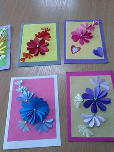 Holiday Crafts For Kids Spring Crafts For Kids Christmas Crafts Art For Kids Butterfly Crafts Flower Crafts Classroom Art Projects Art Folder Newspaper Crafts Diy Happy Mother's Day, Diy Paper, Paper Crafts, Gift Wrapping Techniques, Karten Diy, Paper Flowers Craft, Beautiful Handmade Cards, Mothers Day Crafts, Pop Up Cards