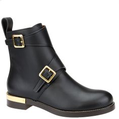 Black biker boot from Chloè autumn winter 2014. From shop.wunderl.com.