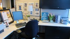 Cubicle makeover example http://empirella.wordpress.com/2011/05/01/cubicle-makeover/