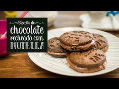 Receita fácil de biscoito de chocolate recheado de Nutella - O Chef e a Chata