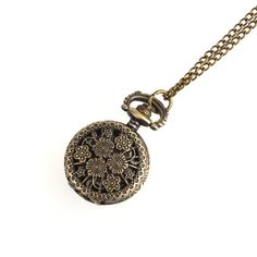 2.09$ (More info here: http://www.daitingtoday.com/a035-retro-bronze-chrysanthemum-sunflowers-pocket-necklace-watch-gift-unisex-men-women-watch-wholesale ) A035 Retro Bronze Chrysanthemum Sunflowers Pocket Necklace Watch Gift Unisex men women watch wholesale for just 2.09$
