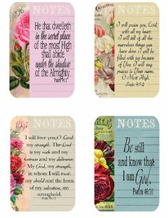 Free scripture cards by Shoregirl's Creations