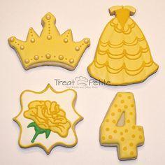 belle dress cookies - Google Search